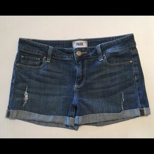 Paige Jean Shorts Size 28, 5-pocket, zipper fly